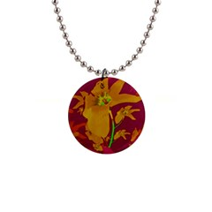 Tropical Hawaiian Style Lilies Collage Button Necklace by dflcprints