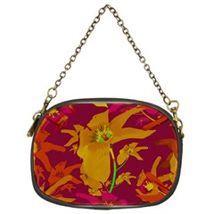 Tropical Hawaiian Style Lilies Collage Chain Purse (one Side) by dflcprints