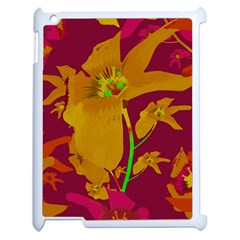 Tropical Hawaiian Style Lilies Collage Apple Ipad 2 Case (white) by dflcprints