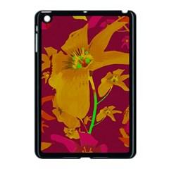 Tropical Hawaiian Style Lilies Collage Apple Ipad Mini Case (black) by dflcprints