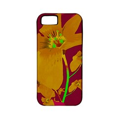 Tropical Hawaiian Style Lilies Collage Apple Iphone 5 Classic Hardshell Case (pc+silicone) by dflcprints