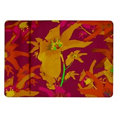 Tropical Hawaiian Style Lilies Collage Samsung Galaxy Tab 10 1  P7500 Flip Case by dflcprints