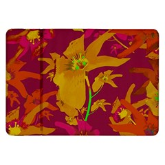 Tropical Hawaiian Style Lilies Collage Samsung Galaxy Tab 8 9  P7300 Flip Case by dflcprints