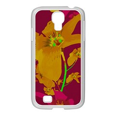 Tropical Hawaiian Style Lilies Collage Samsung Galaxy S4 I9500/ I9505 Case (white) by dflcprints