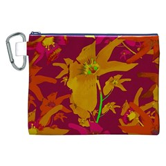 Tropical Hawaiian Style Lilies Collage Canvas Cosmetic Bag (xxl) by dflcprints
