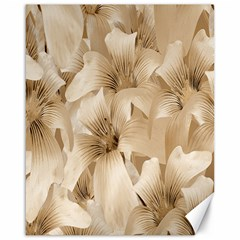Elegant Floral Pattern In Light Beige Tones Canvas 16  X 20  (unframed) by dflcprints