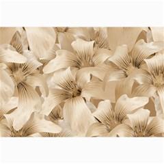 Elegant Floral Pattern In Light Beige Tones Canvas 20  X 30  (unframed) by dflcprints