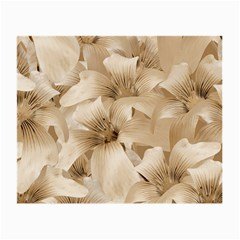 Elegant Floral Pattern In Light Beige Tones Glasses Cloth (small, Two Sided) by dflcprints
