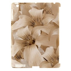 Elegant Floral Pattern In Light Beige Tones Apple Ipad 3/4 Hardshell Case (compatible With Smart Cover) by dflcprints