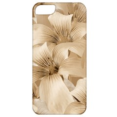 Elegant Floral Pattern In Light Beige Tones Apple Iphone 5 Classic Hardshell Case by dflcprints