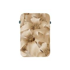 Elegant Floral Pattern In Light Beige Tones Apple Ipad Mini Protective Sleeve by dflcprints