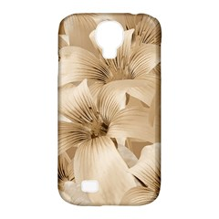 Elegant Floral Pattern In Light Beige Tones Samsung Galaxy S4 Classic Hardshell Case (pc+silicone) by dflcprints