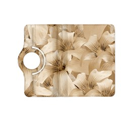 Elegant Floral Pattern In Light Beige Tones Kindle Fire Hd (2013) Flip 360 Case by dflcprints