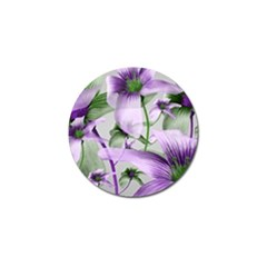 Lilies Collage Art In Green And Violet Colors Golf Ball Marker 10 Pack by dflcprints