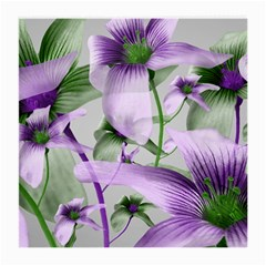 Lilies Collage Art In Green And Violet Colors Glasses Cloth (medium) by dflcprints