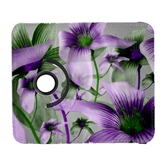 Lilies Collage Art In Green And Violet Colors Samsung Galaxy S  Iii Flip 360 Case by dflcprints