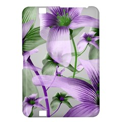 Lilies Collage Art In Green And Violet Colors Kindle Fire Hd 8 9  Hardshell Case by dflcprints