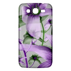 Lilies Collage Art In Green And Violet Colors Samsung Galaxy Mega 5 8 I9152 Hardshell Case  by dflcprints