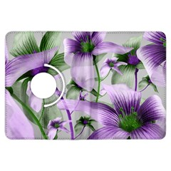 Lilies Collage Art In Green And Violet Colors Kindle Fire Hdx Flip 360 Case by dflcprints