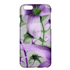 Lilies Collage Art In Green And Violet Colors Apple Iphone 6 Plus Hardshell Case by dflcprints