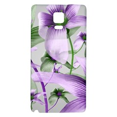 Lilies Collage Art In Green And Violet Colors Samsung Note 4 Hardshell Back Case by dflcprints