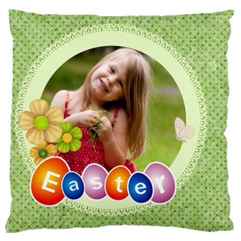 Easter By Easter   Large Flano Cushion Case (one Side)   4b671qu3cx0a   Www Artscow Com Front