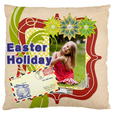 Easter By Easter   Large Flano Cushion Case (one Side)   1zh4wrx2jp53   Www Artscow Com Front