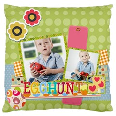 Easter By Easter   Large Flano Cushion Case (two Sides)   Oxw3oc6l9ztj   Www Artscow Com Back