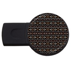 Tribal Dark Geometric Pattern03 2gb Usb Flash Drive (round) by dflcprints
