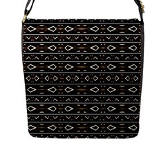 Tribal Dark Geometric Pattern03 Flap Closure Messenger Bag (large) by dflcprints