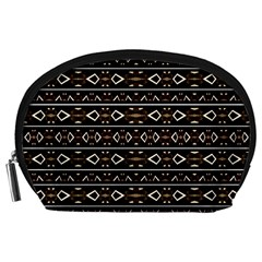 Tribal Dark Geometric Pattern03 Accessory Pouch (large) by dflcprints