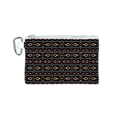 Tribal Dark Geometric Pattern03 Canvas Cosmetic Bag (small) by dflcprints