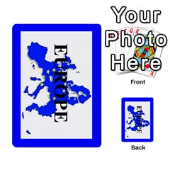 Shattered States Europe Japan Deck 4 By Steve Fowler   Multi Purpose Cards (rectangle)   Lekrvhjd8dh5   Www Artscow Com Back 1