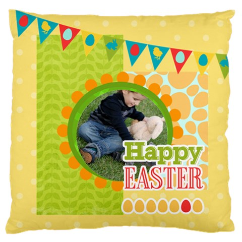 Easter By Easter   Large Flano Cushion Case (one Side)   N8oblrbreesh   Www Artscow Com Front