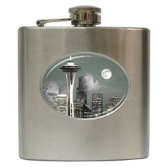 Grey Space Needle Hip Flask by stineshop