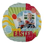 Easter - Large 18  Premium Flano Round Cushion