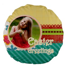 Easter By Easter   Large 18  Premium Flano Round Cushion    Ouh6kfzkavp0   Www Artscow Com Front