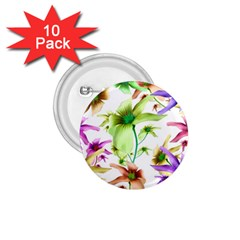 Multicolored Floral Print Pattern 1 75  Button (10 Pack) by dflcprints