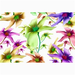 Multicolored Floral Print Pattern Canvas 20  X 30  (unframed) by dflcprints
