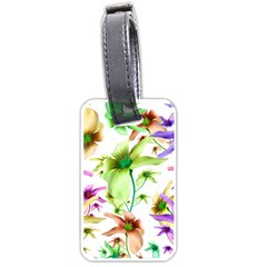 Multicolored Floral Print Pattern Luggage Tag (one Side) by dflcprints