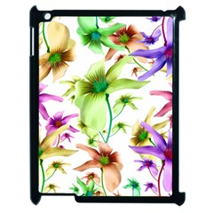 Multicolored Floral Print Pattern Apple Ipad 2 Case (black) by dflcprints