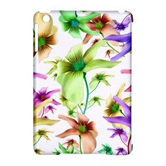 Multicolored Floral Print Pattern Apple Ipad Mini Hardshell Case (compatible With Smart Cover) by dflcprints