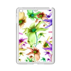Multicolored Floral Print Pattern Apple Ipad Mini 2 Case (white) by dflcprints