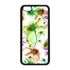 Multicolored Floral Print Pattern Apple Iphone 5c Seamless Case (black) by dflcprints