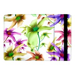 Multicolored Floral Print Pattern Samsung Galaxy Tab Pro 10 1  Flip Case by dflcprints