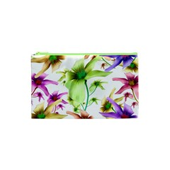 Multicolored Floral Print Pattern Cosmetic Bag (XS) by dflcprints