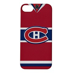 Montreal Canadiens Jersey Style  Apple iPhone 5S Hardshell Case by blueshirtdesigns