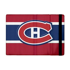 Montreal Canadiens Jersey Style  Apple iPad Mini 2 Flip Case by blueshirtdesigns