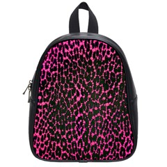 Hot Pink Leopard Print  School Bag (small) by OCDesignss