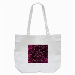 Hot Pink Leopard Print  Tote Bag (white) by OCDesignss
